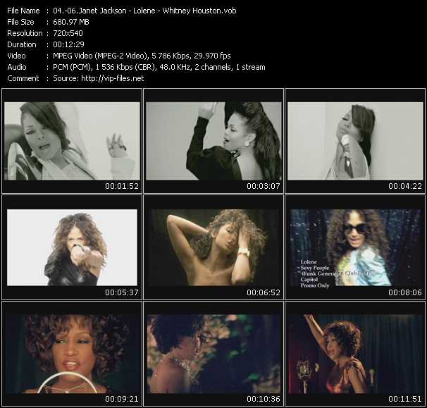 Janet Jackson - Lolene - Whitney Houston video screenshot