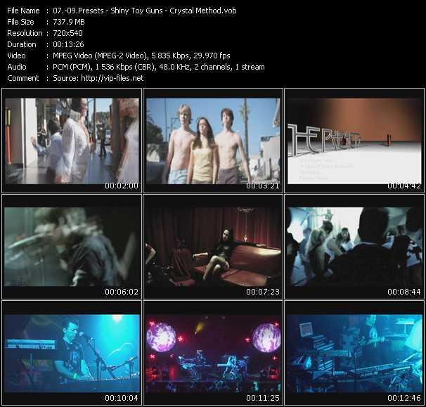 Presets - Shiny Toy Guns - Crystal Method video screenshot