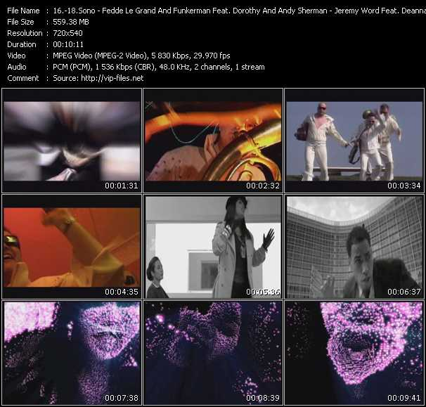 Sono - Fedde Le Grand And Funkerman Feat. Dorothy And Andy Sherman - Jeremy Word Feat. Deanna video screenshot