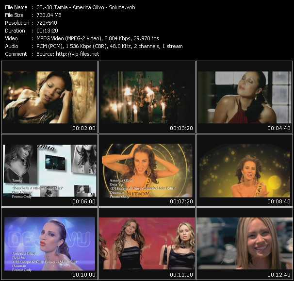 Tamia - America Olivo - Soluna video screenshot