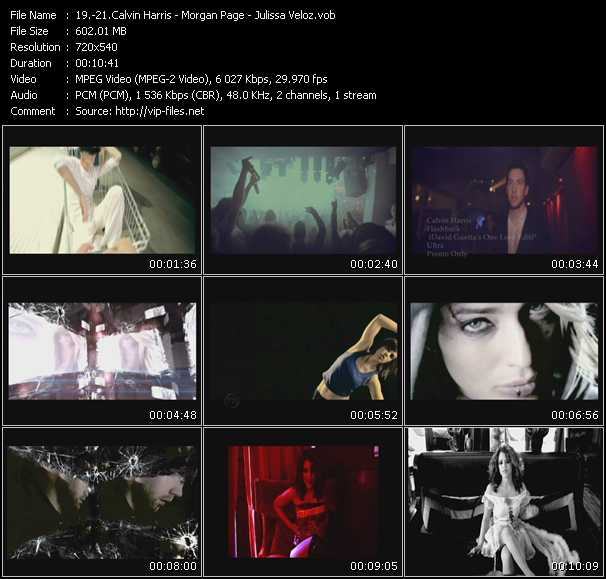 Calvin Harris - Morgan Page - Julissa Veloz video screenshot