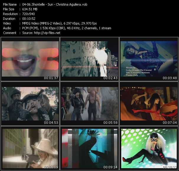 Shontelle - Sun - Christina Aguilera video screenshot
