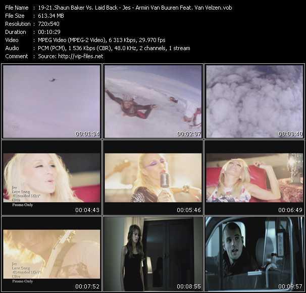 Shaun Baker Vs. Laid Back - Jes - Armin Van Buuren Feat. Van Velzen video screenshot