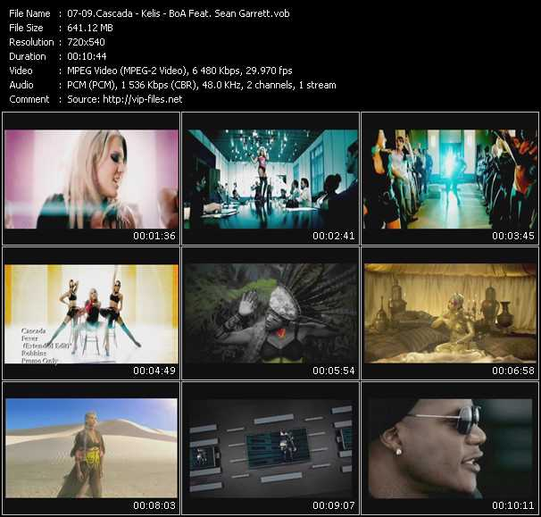 Cascada - Kelis - BoA Feat. Sean Garrett video screenshot