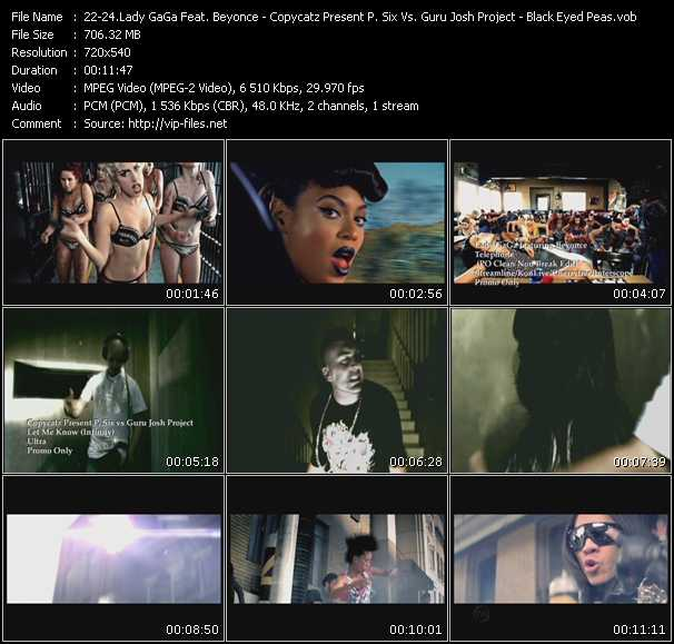 Lady GaGa Feat. Beyonce - Copycatz Present P. Six Vs. Guru Josh Project - Black Eyed Peas video screenshot
