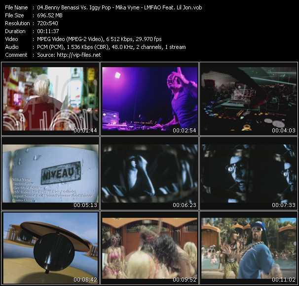 Benny Benassi Vs. Iggy Pop - Mika Vyne - Lmfao Feat. Lil' Jon video screenshot