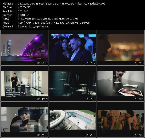 Cedric Gervais Feat. Second Sun - Tino Coury - Klaas Vs. Haddaway video screenshot