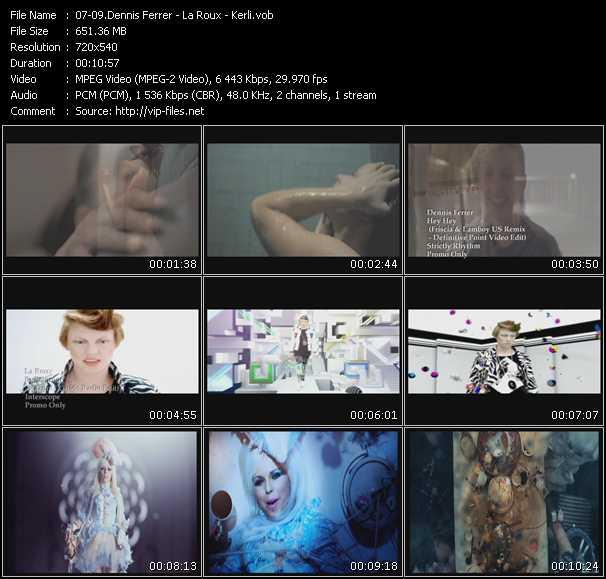 Dennis Ferrer - La Roux - Kerli video screenshot
