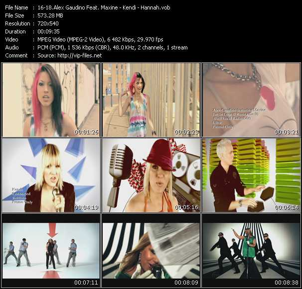 Alex Gaudino Feat. Maxine - Kendi - Hannah video screenshot