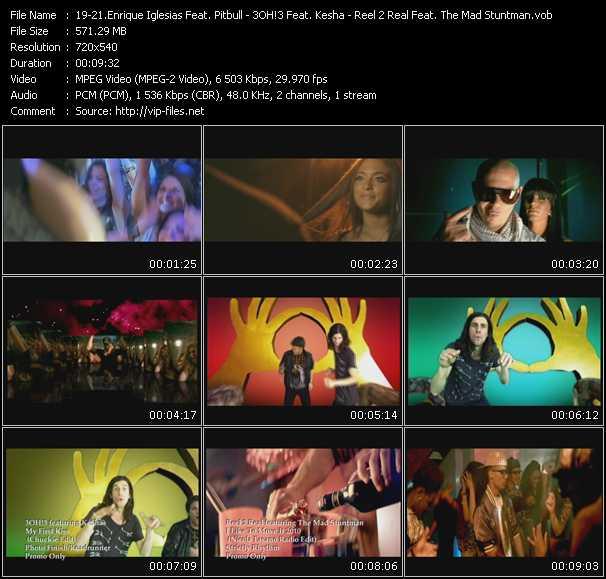 Enrique Iglesias Feat. Pitbull - 3OH!3 Feat. Kesha - Reel 2 Real Feat. The Mad Stuntman video screenshot