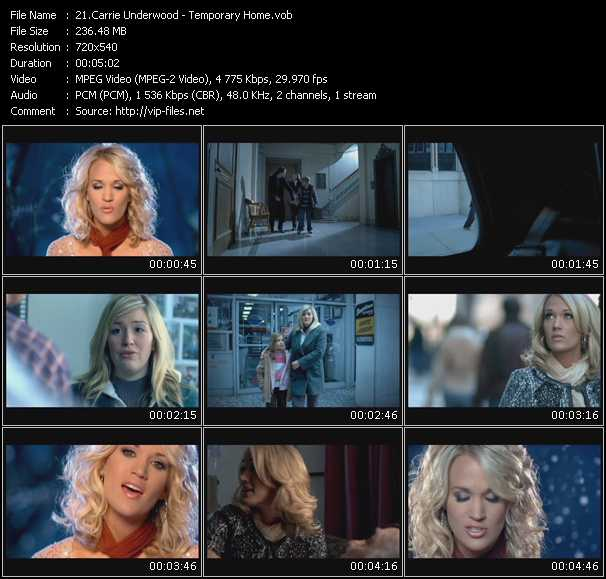 Carrie Underwood video screenshot
