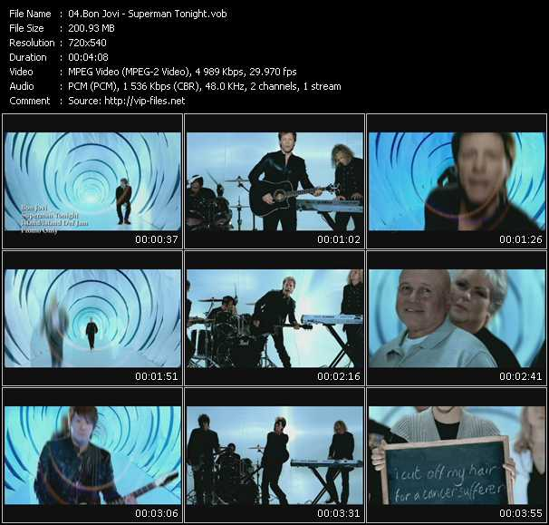 video Superman Tonight screen