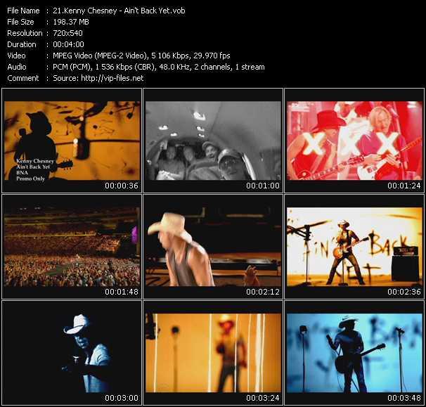 Kenny Chesney video screenshot