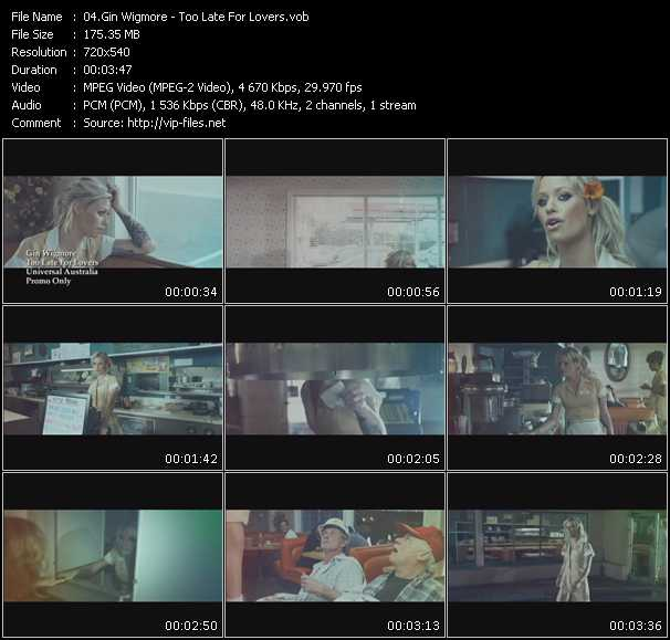 Gin Wigmore video screenshot
