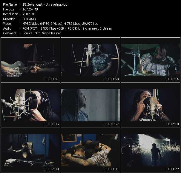 Sevendust video screenshot