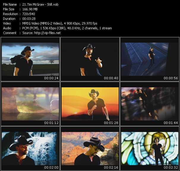 Tim McGraw video screenshot