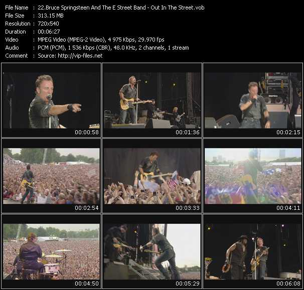 Bruce Springsteen And The E Street Band video screenshot