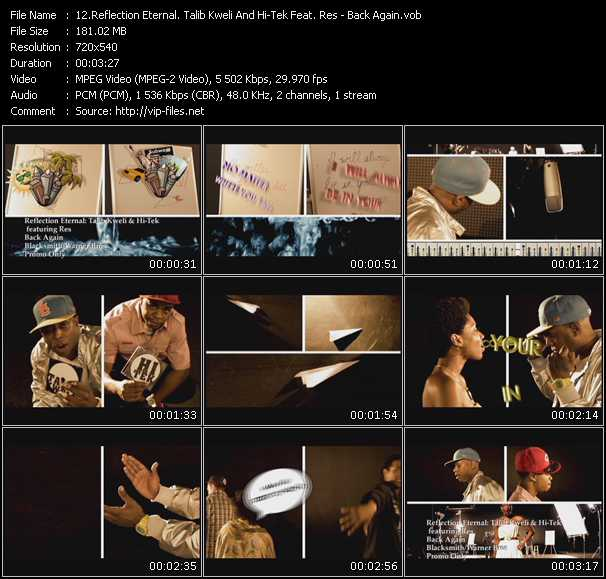 Reflection Eternal. Talib Kweli And Hi-Tek Feat. Res video screenshot