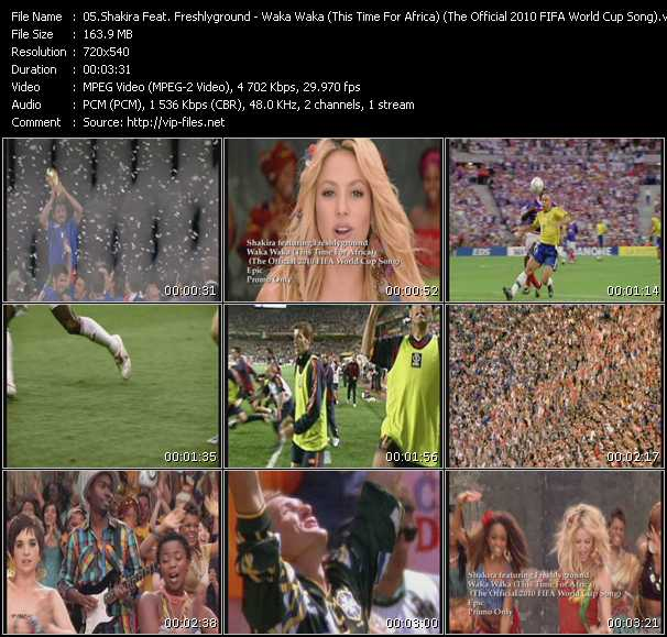 Shakira Feat. Freshlyground video screenshot