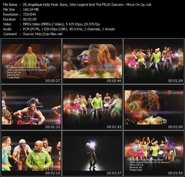 Angelique Kidjo Feat. Bono, John Legend And The FELA! Dancers video screenshot