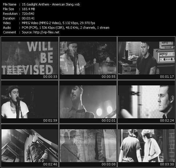 Gaslight Anthem video screenshot