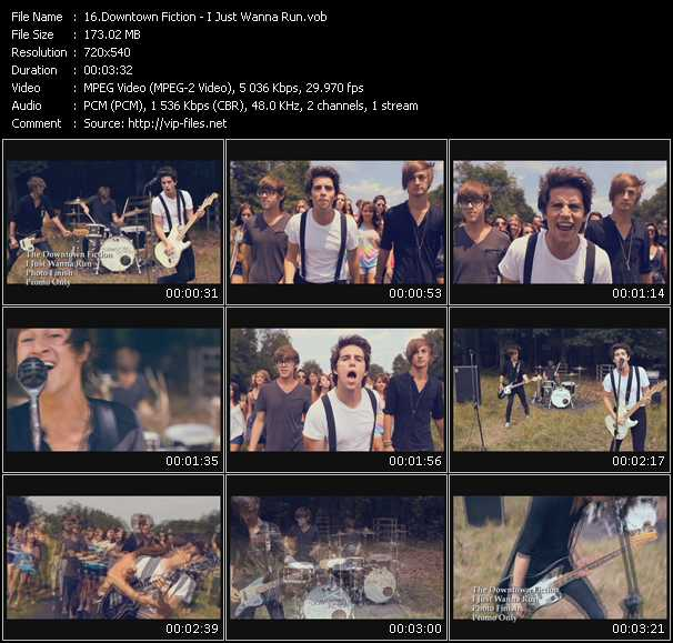 Downtown Fiction video screenshot