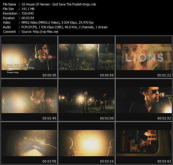 House Of Heroes video screenshot