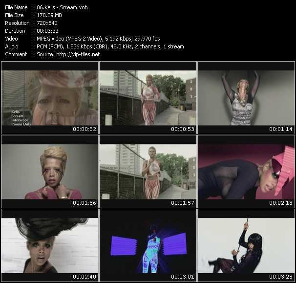 video Scream screen