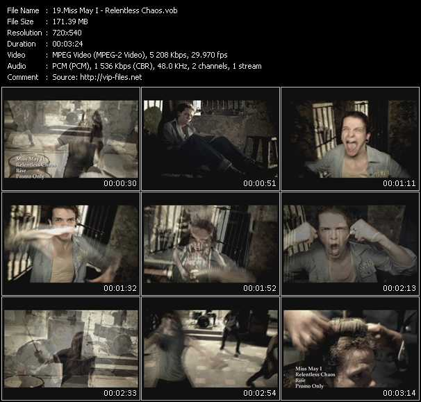 Miss May I video screenshot