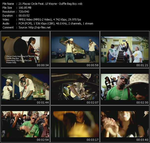 Playaz Circle Feat. Lil' Wayne video screenshot