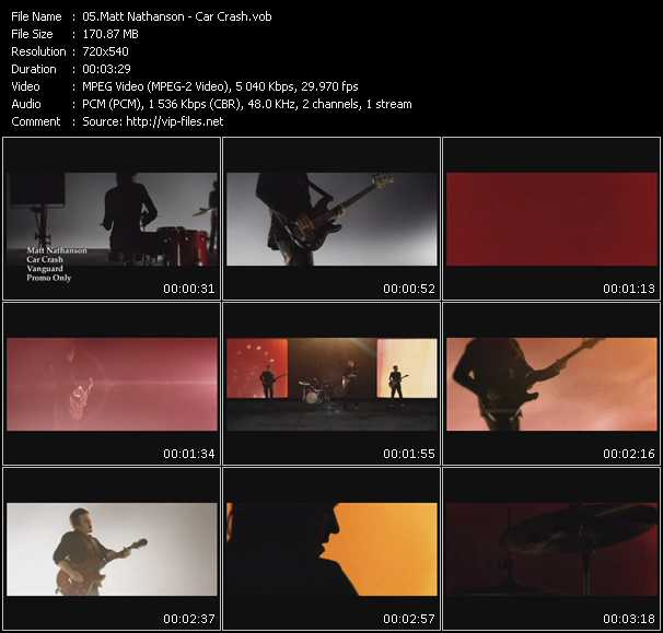 Matt Nathanson video screenshot