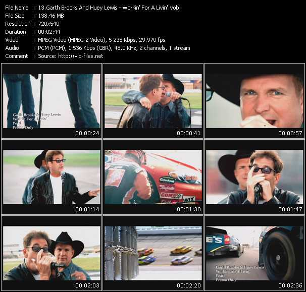 Garth Brooks And Huey Lewis video screenshot
