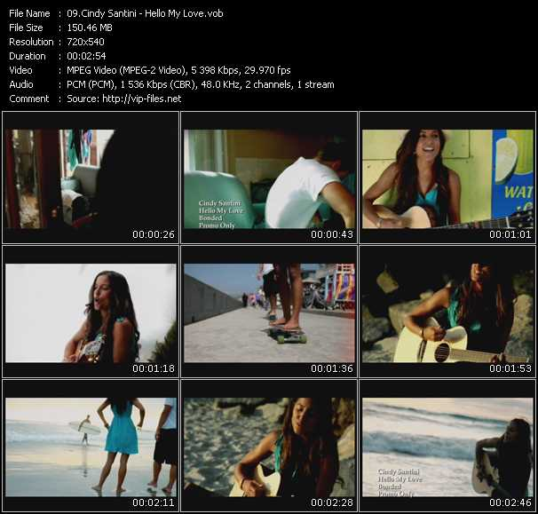 Cindy Santini video screenshot