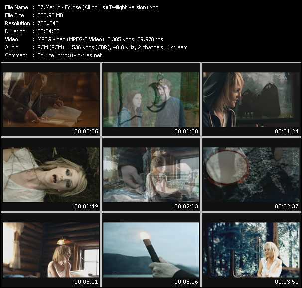 Metric video screenshot