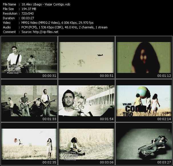 Alex Ubago video screenshot