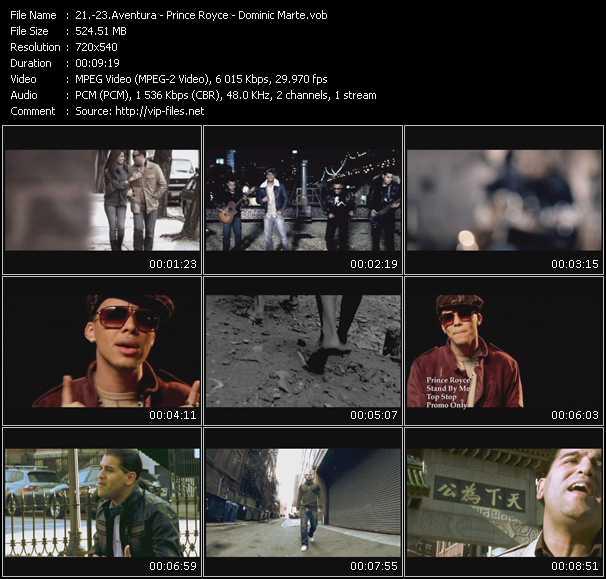 Aventura - Prince Royce - Dominic Marte video screenshot