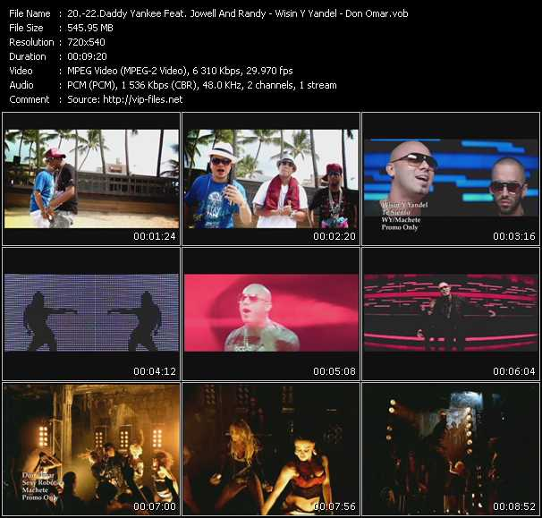 Daddy Yankee Feat. Jowell And Randy - Wisin And Yandel - Don Omar video screenshot