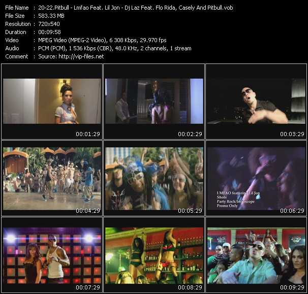 Pitbull - Lmfao Feat. Lil' Jon - Dj Laz Feat. Flo Rida, Casely And Pitbull video screenshot