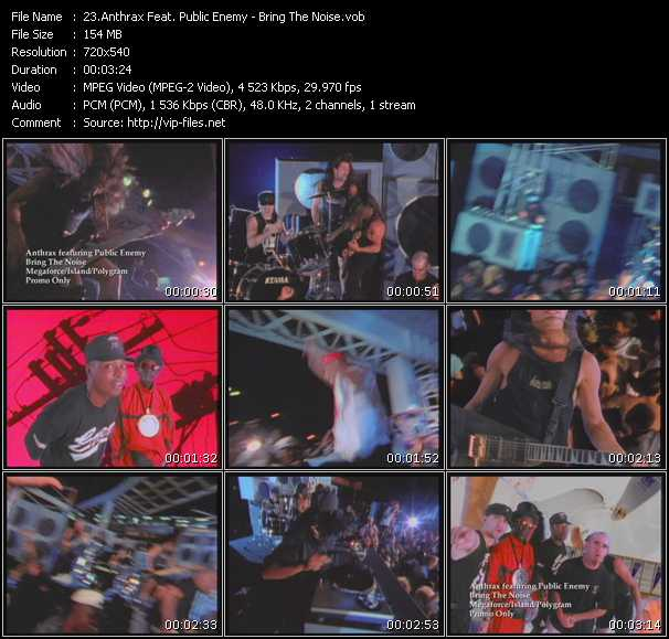 Anthrax Feat. Public Enemy video screenshot