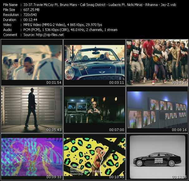 Travis McCoy Feat. Bruno Mars - Cali Swag District - Ludacris Feat. Nicki Minaj - Rihanna - Jay-Z And Swizz Beatz video screenshot