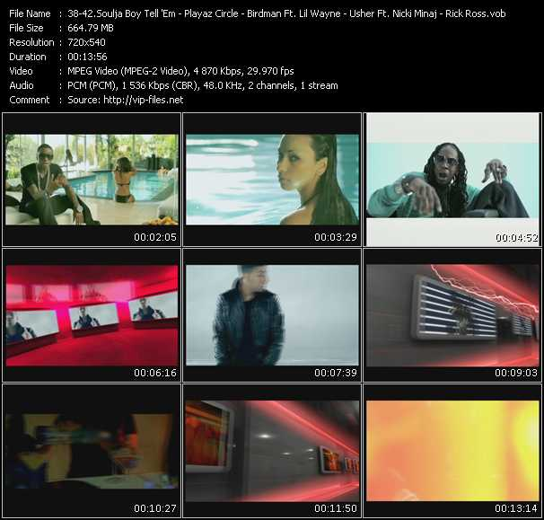 Soulja Boy Tell 'Em - Playaz Circle Feat. Lil' Wayne And Birdman - Birdman Feat. Lil' Wayne And Drake - Usher Feat. Nicki Minaj - Rick Ross Feat. Styles P video screenshot