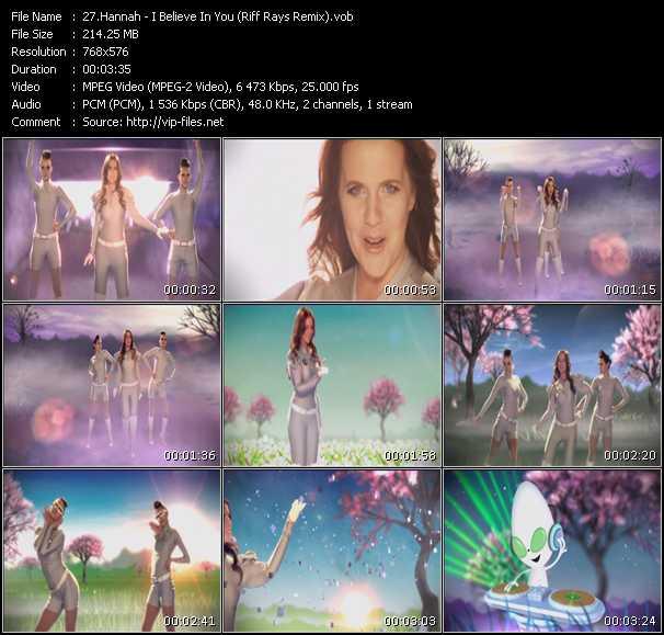 Hannah video screenshot