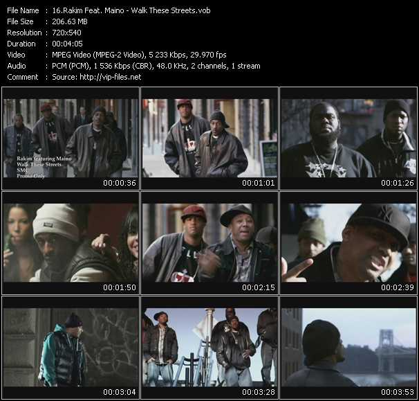Rakim Feat. Maino video screenshot