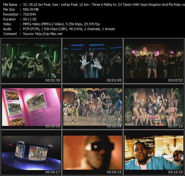 Lil' Jon Feat. Kee - Lmfao Feat. Lil' Jon - Three 6 Mafia Vs. Tiesto With Sean Kingston And Flo Rida video screenshot