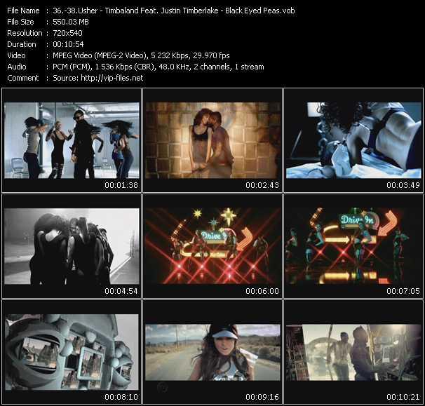 Usher - Timbaland Feat. Justin Timberlake - Black Eyed Peas video screenshot