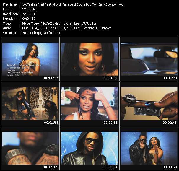 Teairra Mari Feat. Gucci Mane And Soulja Boy Tell 'Em video screenshot