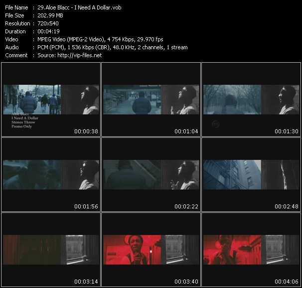 Aloe Blacc video screenshot