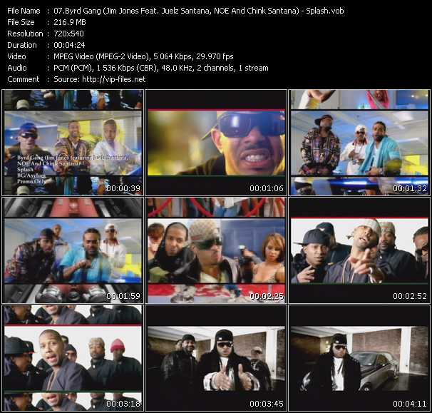 Byrd Gang (Jim Jones Feat. Juelz Santana, NOE And Chink Santana) video screenshot
