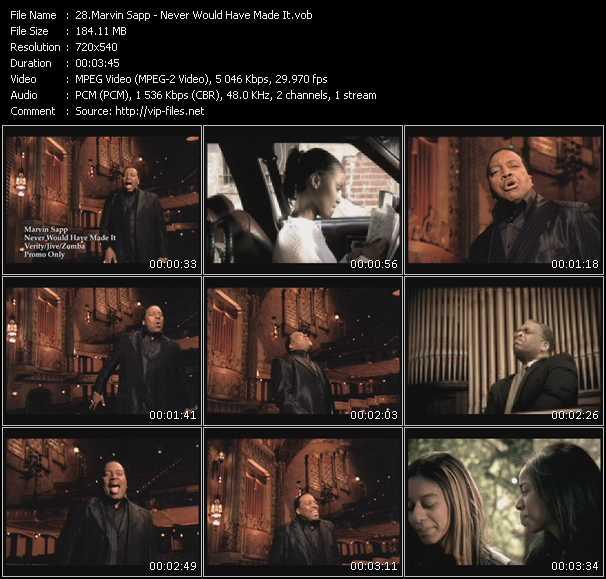 Marvin Sapp video screenshot