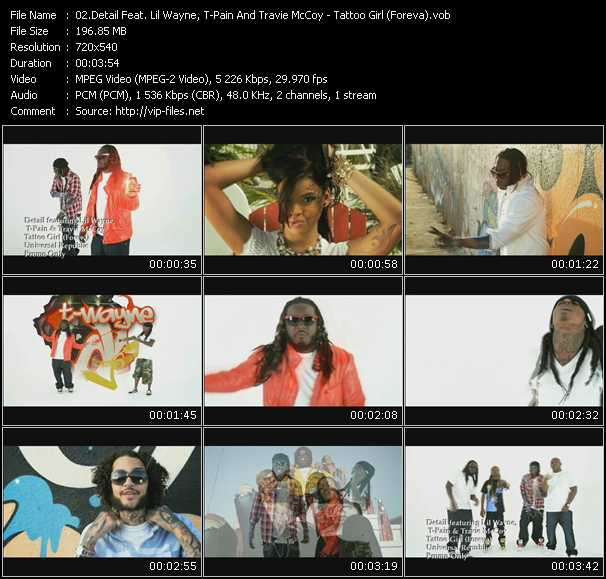 Detail Feat. Lil' Wayne, T-Pain And Travis McCoy video screenshot